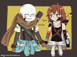 Art Trade: Dawn and Ink Sans by Shenjie-chan1998