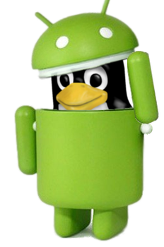 Tux in Android Robot Costume 1 by Whidden