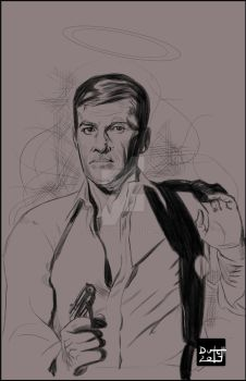 Roger Moore Tribute by Dynamic-Illustration