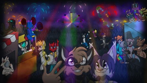Fireworks at Fair - YCH by LindseyVi by CompleteDarkness23