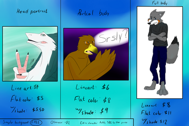 Commission prices by TinyProto