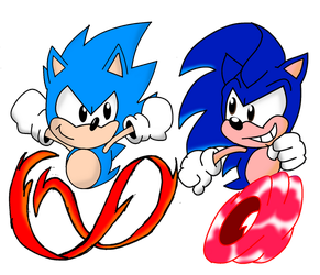 2 Sonics Running at the Speed of Sound by FrostTheHobidon