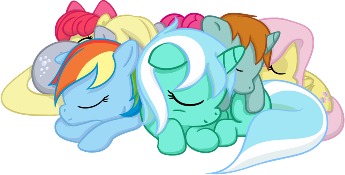 Pony Pile by MoongazePonies