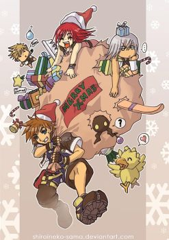 KH2: Merry Christmas by ShiroiNeko-sama