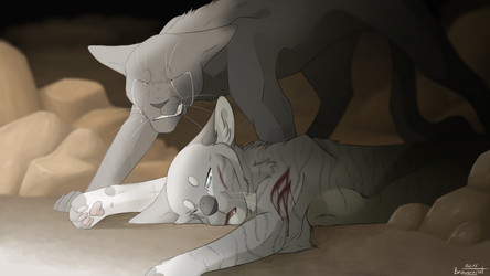 Feathertail's Death by Brownycat