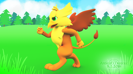 Gusty the Gryphon Model v1.0 by AnScathMarcach