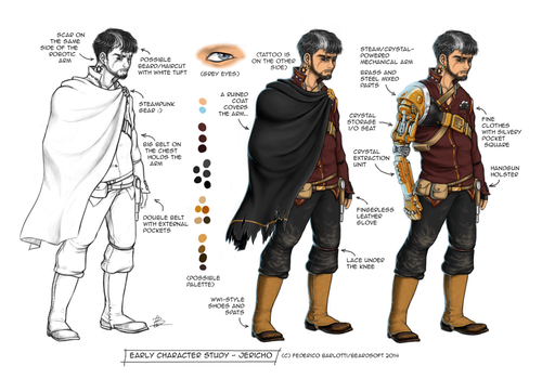 'Jericho' Early character study by Banderi
