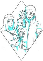 The team of seven future (Family Uzumaki) by byBlackRose