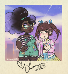 polaroid date [+ speedpaint] by sakurablitz