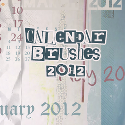 2012 Calendar Brushes by mata80