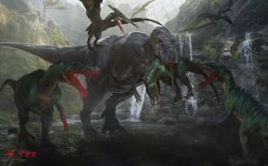 Clash Of extinction Jurassic park by Wolfhooligans