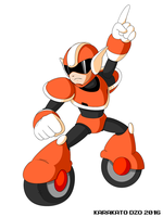 Haste Man (Mega Man Revolution) by KarakatoDzo