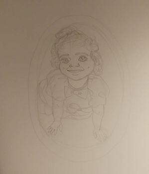 baby Me self portrait  by Bella-Who-1