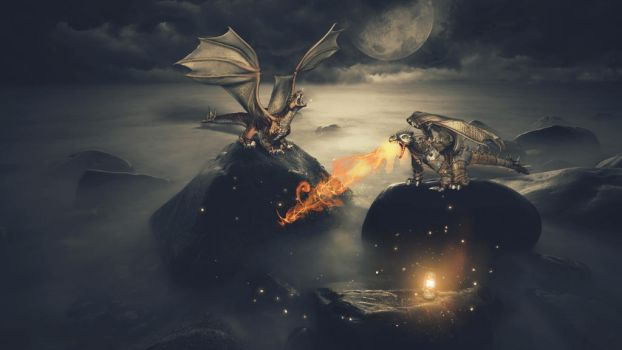 Battle Of Dragons by DesignFlash