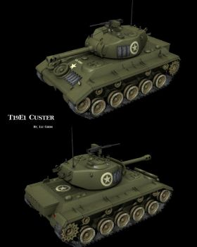 T19E1 Custer by lady-die