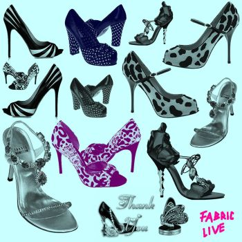 My Beautiful Shoes Brushes by FabricLive