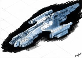 Spaceship Concept by LordDoomhammer