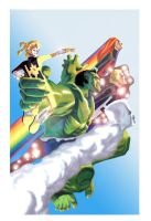 Cover 3 Hulk and PowerPack by BroHawk