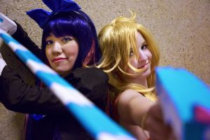 Angel Sisters: Panty and Stocking Cosplay by firecloak