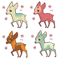 Free Deer Adopts - Draw to Adopt by VampireMuffinxx