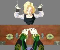 Android 18 Tickle by tomson05