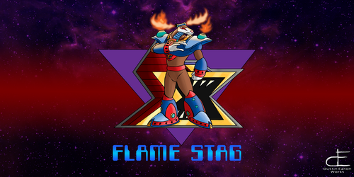 13 Flame Stag by Dustin-Eaton-Works