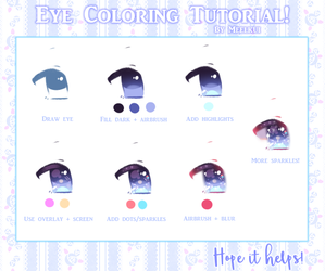 Eye Coloring Tutorial by Meelkui