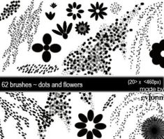 dots and flower brush by evionn