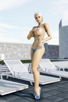 Marie-Claude Bourbonnais: The one at the pool 3 by Shassai