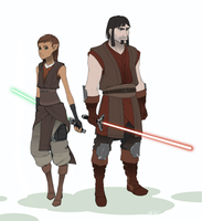 Master Khain and  Padawan Ziah by Tekka-Croe