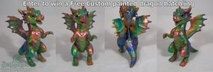 Enter to win a FREE Custom painted Dragon! by The-SixthLeafClover