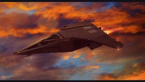 Sci-Fi Military Ship 3D Commission by AdamKop
