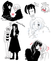 Tumblr Yullen doodles by MMtheMayo