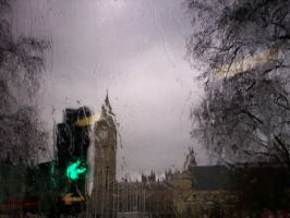 Big Ben and A TRAFFIC LIGHT by Holsmetree