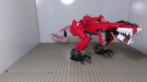 MMPR T rex Zord [Lego MOC] by sideshowOfMadness