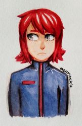 mysterious red-haired boy by monmonicle