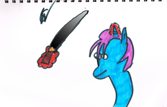 Random pony with chainsaw/sword by afl300