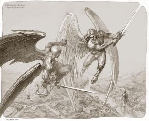 Battle of angels by Guro