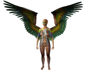 STOCK PNG angel of colour4 by MaureenOlder