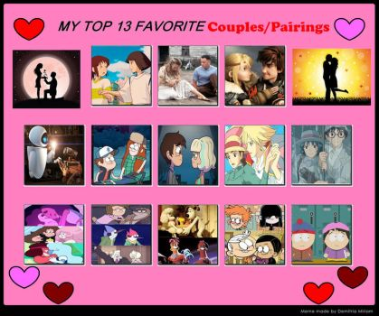 Top 13 Favorite Couples by thearist2013