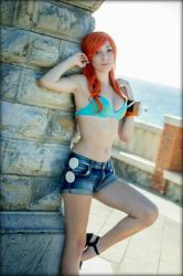 nami cosplay from one piece  by kamira-art-cosplay