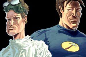 Dr. Horrible and Captain Hamme by michael-e-wiggam