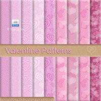 9 tileable Valentine Patterns by flashtuchka