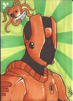 Tako Man Sketch Card by Ross-A