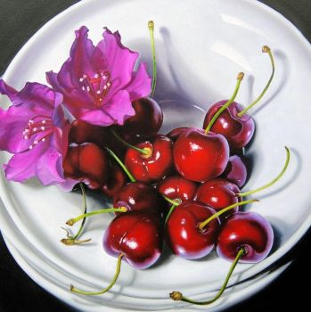Flowers and Cherries by Lillemut