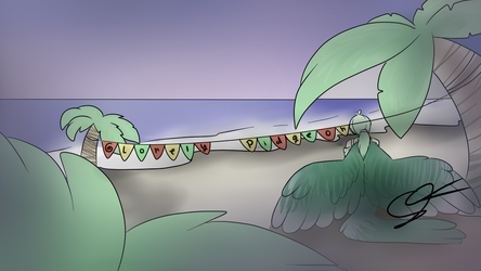 Lonely Pidgeon Youtube Banner by ShrimpLeafCake