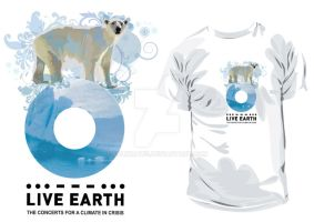 LIVE EARTH t-shirt POLAR BEAR by ralidraws