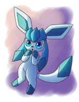Smol Glaceon by Bokue
