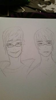 Male self and best friend Vicky  by HetaliaLover888