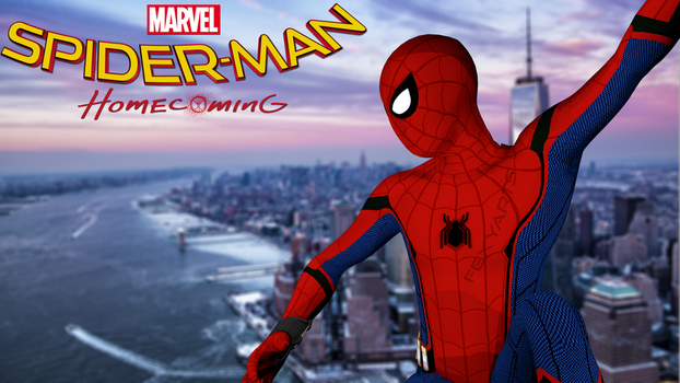 [C4D] - Spider Man Homecoming Poster by Rosylina